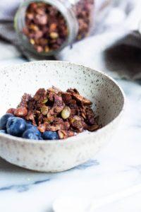 Low Sugar Chocolate Buckwheat Granola